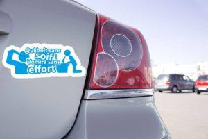 Sticker Voiture Qui Boit Sans Soif Vomira Sans Effort