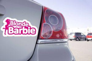 Sticker Humour Blonde Barbie