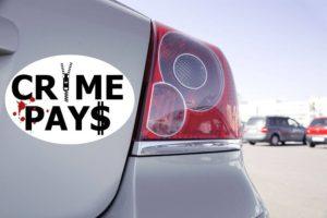 Sticker Voiture Sticker Crime Pays