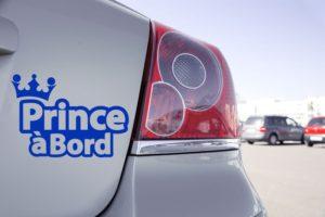 Sticker Prince à Bord