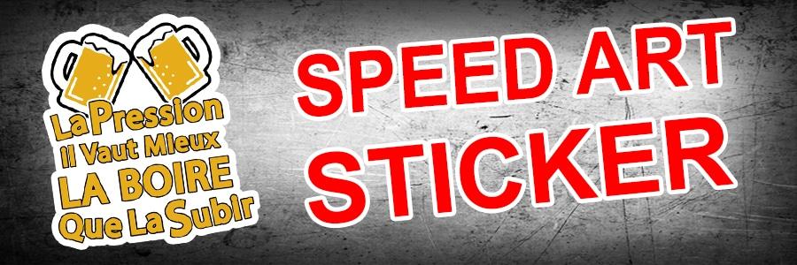 Speed Art Sticker