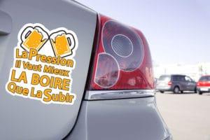 Sticker La Pression Il Vaut Mieux La Boire Que La Subir