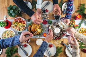 Repas de noël en famille