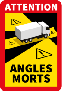 Autocollant Angles Morts Camions