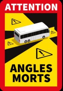 Sticker Angles morts Bus